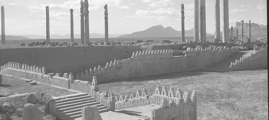 A view of the east stairway of the Apadana and Tripylon at Persepolis